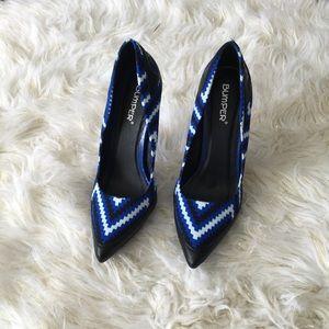 Shoes - Women's Clover-03 Two-tone Geometric Print Pumps